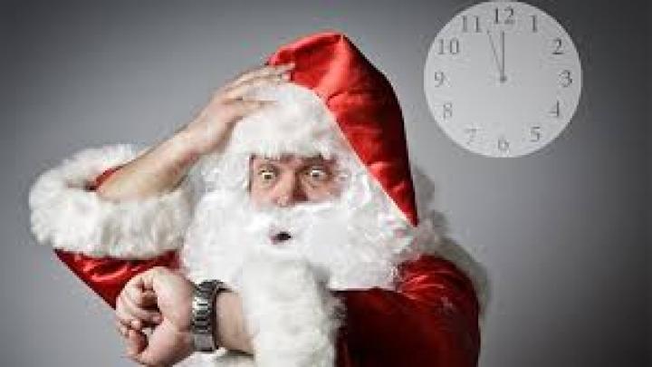 Julemanden har travlt